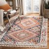 Safavieh Farmhouse Collection FMH816A Southwestern Tribal Bohemian Tassel Area Rug 9 X 12 IvoryNavy 0 100x100