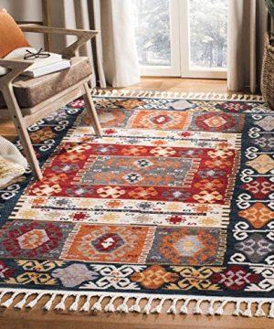 Safavieh Farmhouse Collection FMH847A Area Rug 9 X 12 CreamNavy 0 300x360