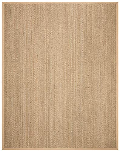 Safavieh Natural Fiber Collection NF115A Herringbone Natural And Beige Seagrass Area Rug 9 X 12 0 0