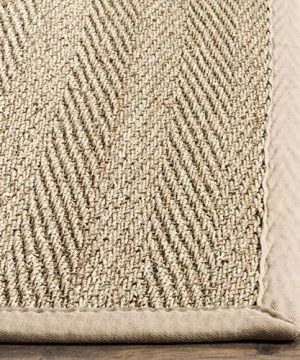 Safavieh Natural Fiber Collection NF115A Herringbone Natural And Beige Seagrass Area Rug 9 X 12 0 1 300x360