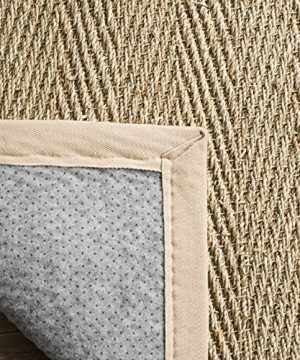 Safavieh Natural Fiber Collection NF115A Herringbone Natural And Beige Seagrass Area Rug 9 X 12 0 2 300x360