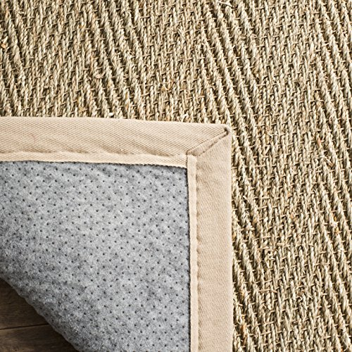 Safavieh Natural Fiber Collection NF115A Herringbone Natural And Beige Seagrass Area Rug 9 X 12 0 2