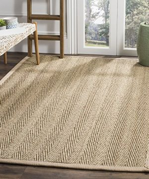 Safavieh Natural Fiber Collection NF115A Herringbone Natural And Beige Seagrass Area Rug 9 X 12 0 3 300x360