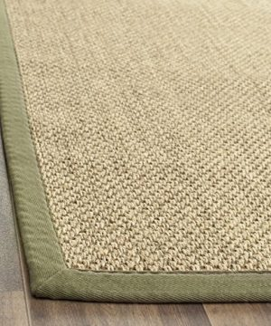 Safavieh Natural Fiber Collection NF443C Tiger Eye Natural And Green Sisal Area Rug 9 X 12 0 1 300x360