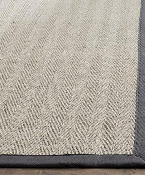 Safavieh Natural Fiber Collection NF444A Herringbone Grey Brown And Grey Sisal Area Rug 9 X 12 0 0 300x360