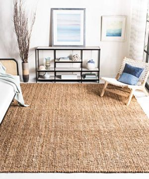 Safavieh Natural Fiber Collection NF447A Hand Woven Chunky Textured Jute Area Rug 9 X 12 0 0 300x360