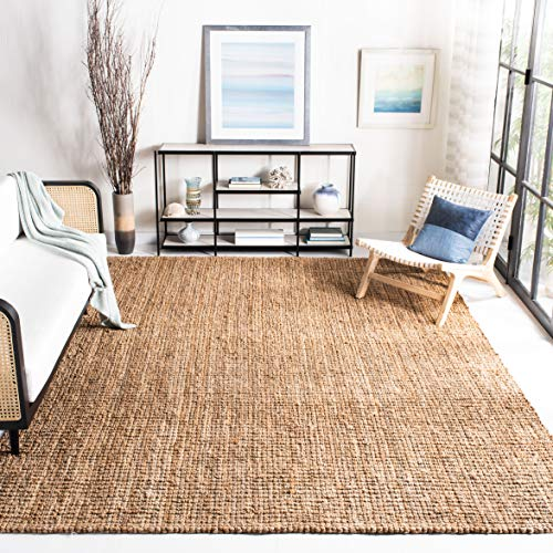 Safavieh Natural Fiber Collection NF447A Hand Woven Chunky Textured Jute Area Rug 9 X 12 0 0