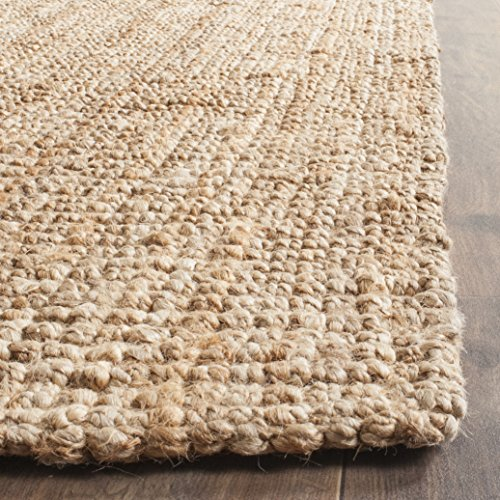 Safavieh Natural Fiber Collection NF447A Hand Woven Chunky Textured Jute Area Rug 9 X 12 0 1