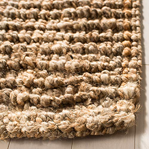 Safavieh Natural Fiber Collection NF447A Hand Woven Chunky Textured Jute Area Rug 9 X 12 0 2
