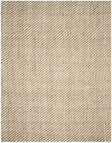 Safavieh Natural Fiber Collection NF458A Hand Woven Bleach And Natural Jute Area Rug 9 X 12 0 0