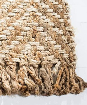 Safavieh Natural Fiber Collection NF458A Hand Woven Bleach And Natural Jute Area Rug 9 X 12 0 1 300x360