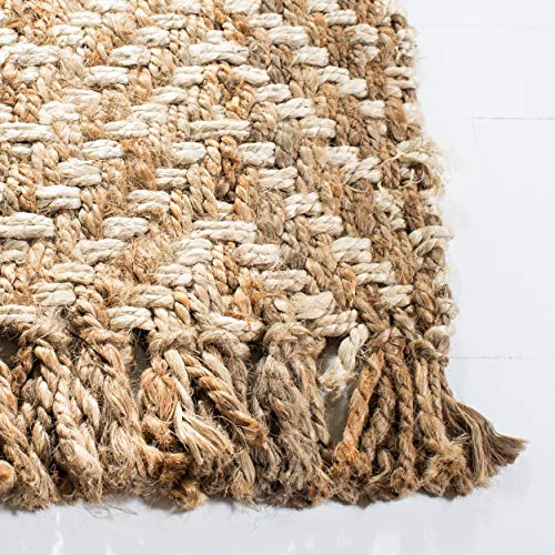 Safavieh Natural Fiber Collection NF458A Hand Woven Bleach And Natural Jute Area Rug 9 X 12 0 1