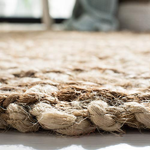Safavieh Natural Fiber Collection NF458A Hand Woven Bleach And Natural Jute Area Rug 9 X 12 0 3