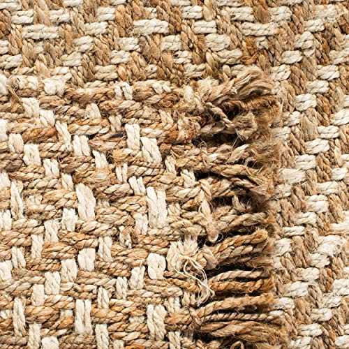Safavieh Natural Fiber Collection NF458A Hand Woven Bleach And Natural Jute Area Rug 9 X 12 0 4