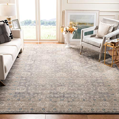 Safavieh Sofia Collection SOF330B Vintage Light Grey And Beige Distressed Area Rug 9 X 12 0