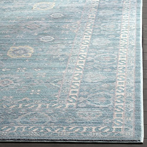 Safavieh Valencia Collection VAL110B Alpine And Multi Vintage Distressed Silky Polyester Area Rug 9 X 12 0 0