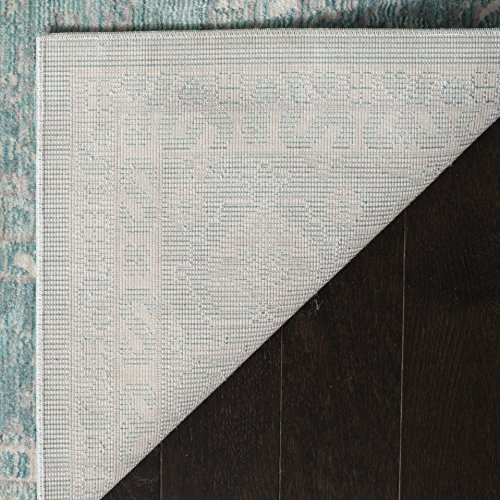 Safavieh Valencia Collection VAL110B Alpine And Multi Vintage Distressed Silky Polyester Area Rug 9 X 12 0 1