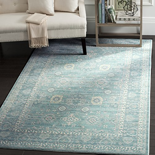 Safavieh Valencia Collection VAL110B Alpine And Multi Vintage Distressed Silky Polyester Area Rug 9 X 12 0