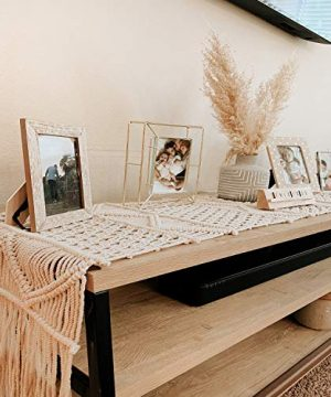 SnugLife Macrame Table Runner 86 X 13 Long Boho Table Runner Wedding Table Decor Vintage Farmhouse And Bohemian Dining Room Style Off White 0 2 300x360