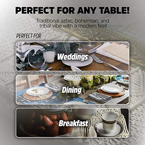 SnugLife Macrame Table Runner 86 X 13 Long Boho Table Runner Wedding Table Decor Vintage Farmhouse And Bohemian Dining Room Style Off White 0 5