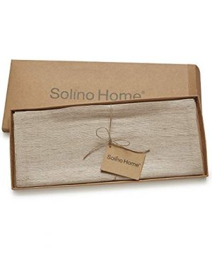 Solino Home 100 Silk Table Runner Made From Natural Handspun And Hand Tied Pure Silk 14 X 108 Inch 0 3 300x360