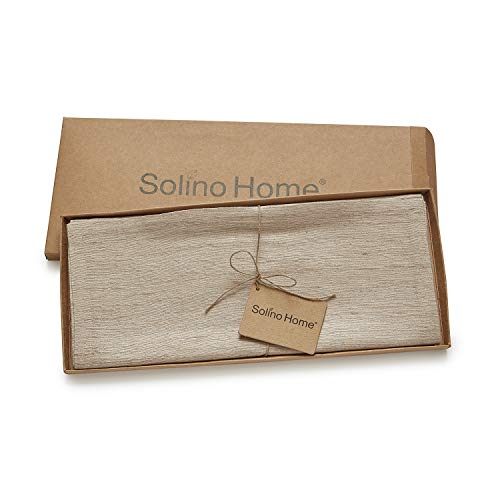 Solino Home 100 Silk Table Runner Made From Natural Handspun And Hand Tied Pure Silk 14 X 108 Inch 0 3