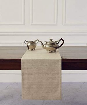 Solino Home 100 Silk Table Runner Made From Natural Handspun And Hand Tied Pure Silk 14 X 108 Inch 0 300x360
