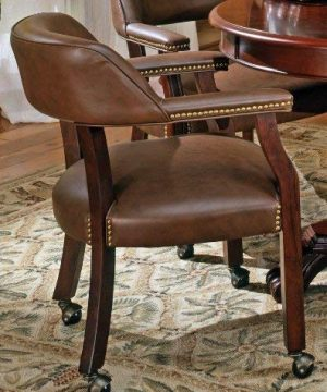 Steve Silver Company Tournament Captains Chair With Casters Brown 0 300x360