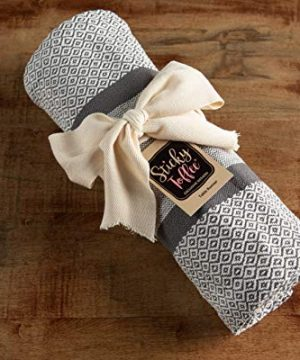 Sticky Toffee Cotton Woven Table Runner With Fringe Traditional Diamond Gray 14 In X 72 In 0 2 300x360