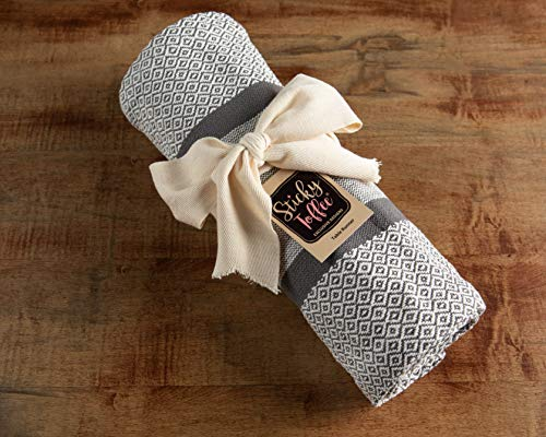 Sticky Toffee Cotton Woven Table Runner With Fringe Traditional Diamond Gray 14 In X 72 In 0 2