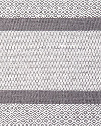 Sticky Toffee Cotton Woven Table Runner With Fringe Traditional Diamond Gray 14 In X 72 In 0 4
