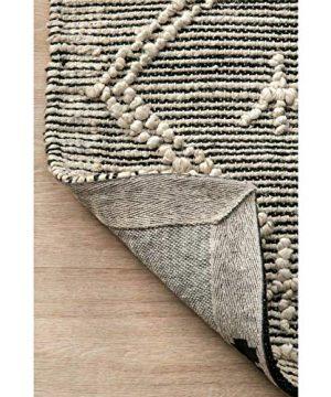 THE RAISE Area Rug Mat Rug Contemporary Handmade Moroccan Julianne Jute Area Rug In Gray 9 X 12 3 0 0 300x360