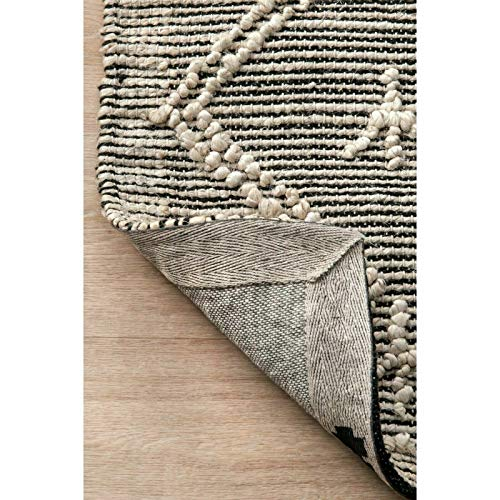 THE RAISE Area Rug Mat Rug Contemporary Handmade Moroccan Julianne Jute Area Rug In Gray 9 X 12 3 0 0