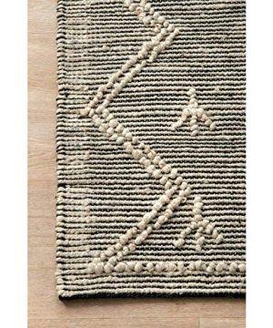 THE RAISE Area Rug Mat Rug Contemporary Handmade Moroccan Julianne Jute Area Rug In Gray 9 X 12 3 0 1 300x360