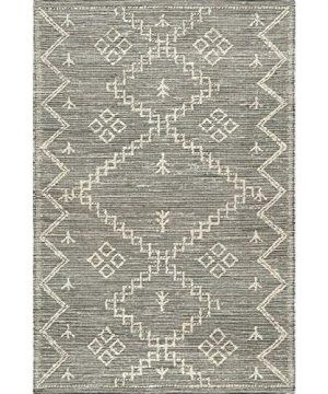 THE RAISE Area Rug Mat Rug Contemporary Handmade Moroccan Julianne Jute Area Rug In Gray 9 X 12 3 0 2 300x360