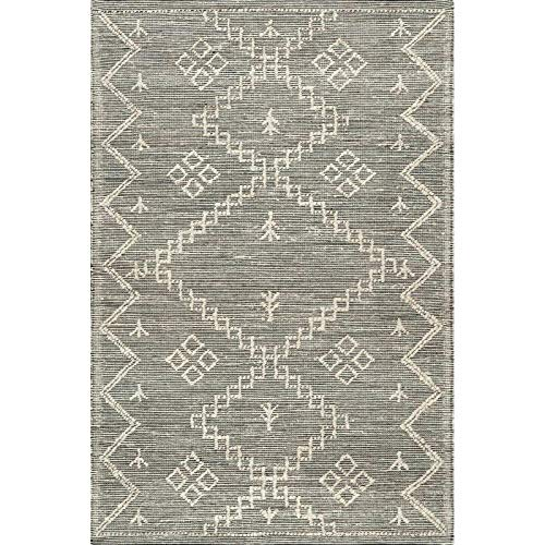 THE RAISE Area Rug Mat Rug Contemporary Handmade Moroccan Julianne Jute Area Rug In Gray 9 X 12 3 0 2
