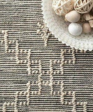 THE RAISE Area Rug Mat Rug Contemporary Handmade Moroccan Julianne Jute Area Rug In Gray 9 X 12 3 0 3 300x360