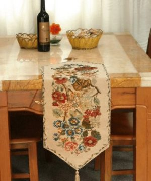 Tache Tapestry Colorful Floral Country Rustic Morning Meadow Table Runner 0 300x360