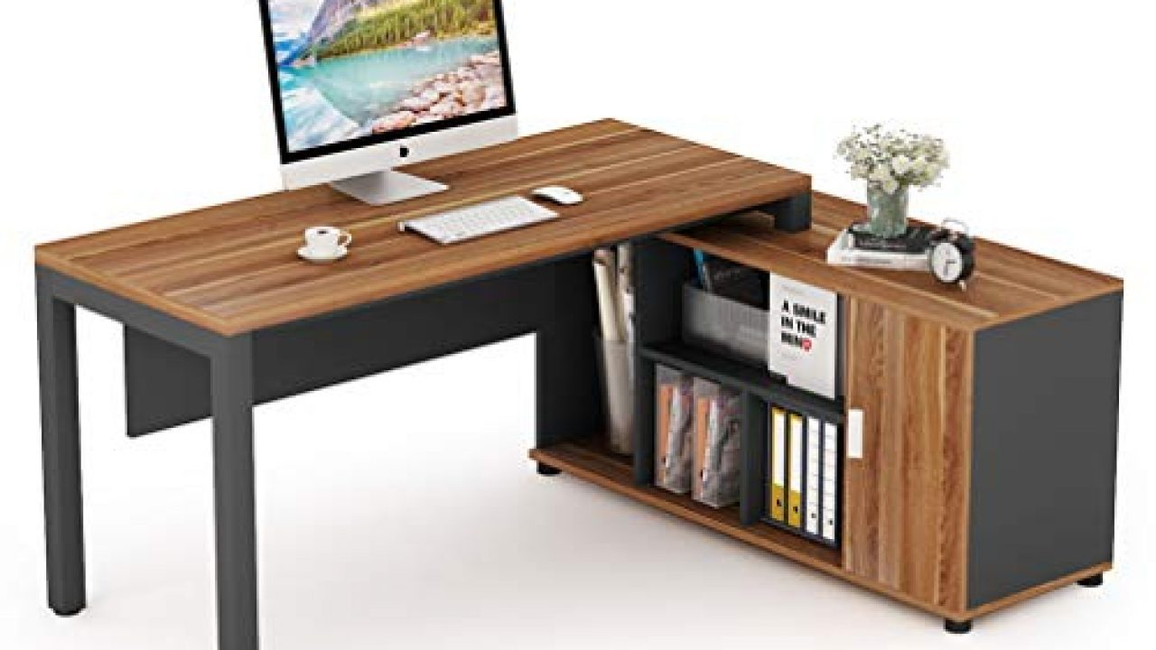 Tribesigns L Shaped Desk, Large Computer Desk Computer Table with Storage  Shelves, Gaming Office Executive Table
