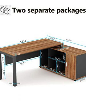 Tribesigns L Shaped Desk Large Computer Desk Computer Table With Storage Shelves Gaming Office