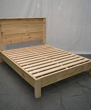 Unfinished Farmhouse Platform Bed W Headboard QueenTraditional Platform FrameWood Platform Reclaimed BedModernUrbanCottage Platform Bed 0 300x360
