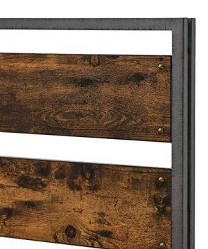 Walker Edison Industrial Plank Metal King Size Headboard Footboard Bed Frame Bedroom Brown Reclaimed Wood 0 3 300x360