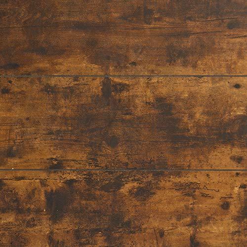 Walker Edison Industrial Plank Metal King Size Headboard Footboard Bed Frame Bedroom Brown Reclaimed Wood 0 5