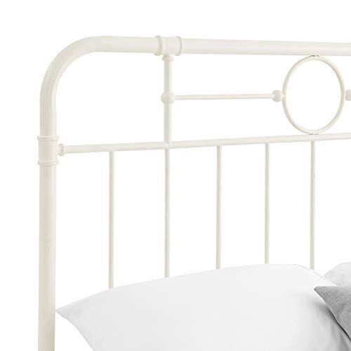 Walker Edison Rustic Farmhouse Wood Queen Metal Headboard ...