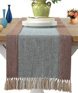 WarmTide Cotton Linen Dining Table Runner With Tassels Rectangular Long Coffee Covers Multipurpose For Home Kitchen Party Wedding Decorations Everyday Use 0 300x360