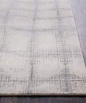 Wicomico Updated Farmhouse 9 X 124 Rectangle Modern 55 Polyester45 Polypropylene KhakiMedium GrayTaupeCream Area Rug 0 2 300x360