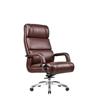 XIANWEI Swivel Chair PU Lifting Computer Chair High Back Office Chair Desk Chair Reclining Seat Armchair Color Brown 0 300x360