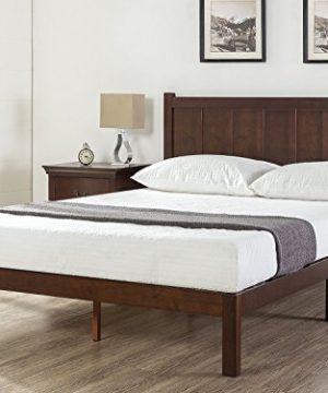 Zinus Adrian Wood Rustic Style Platform Bed With Headboard No Box Spring Needed Wood Slat Support Full 0 300x360