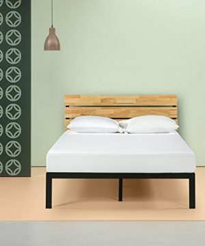 Zinus Paul Metal And Wood Platform Bed With Wood Slat Support King 0 300x360