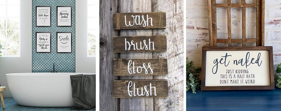 farmhouse bathroom wall decor art